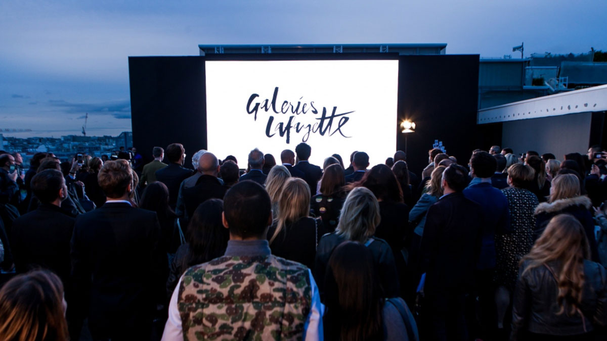 galeries lafayette projection