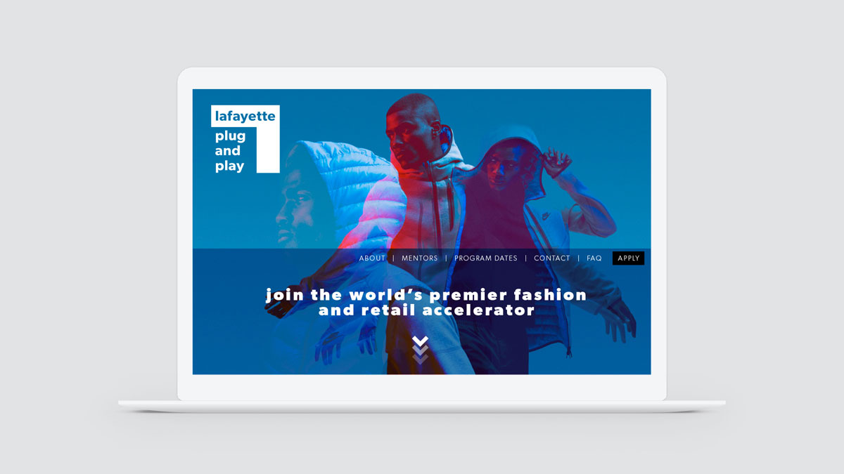Lafayette Plug and Play website landing page