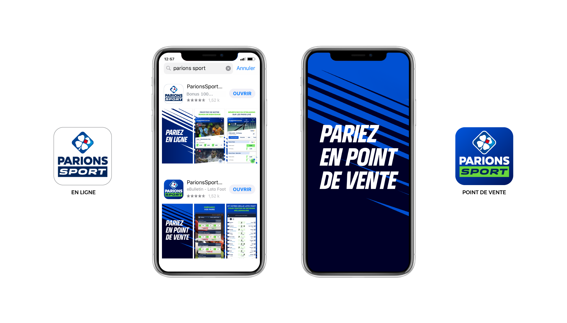 Application mobile Parions sport point de vente et parions sport en ligne