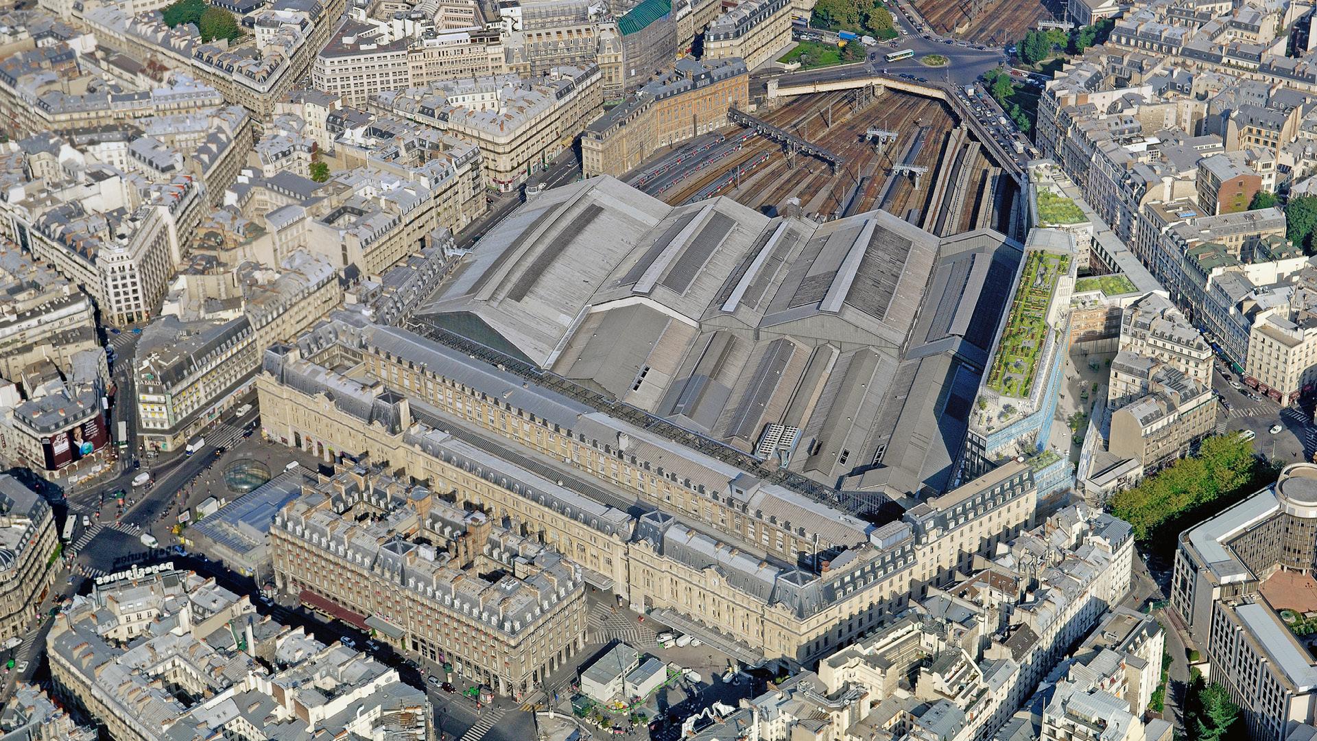 Vue de la gare Saint-Lazare