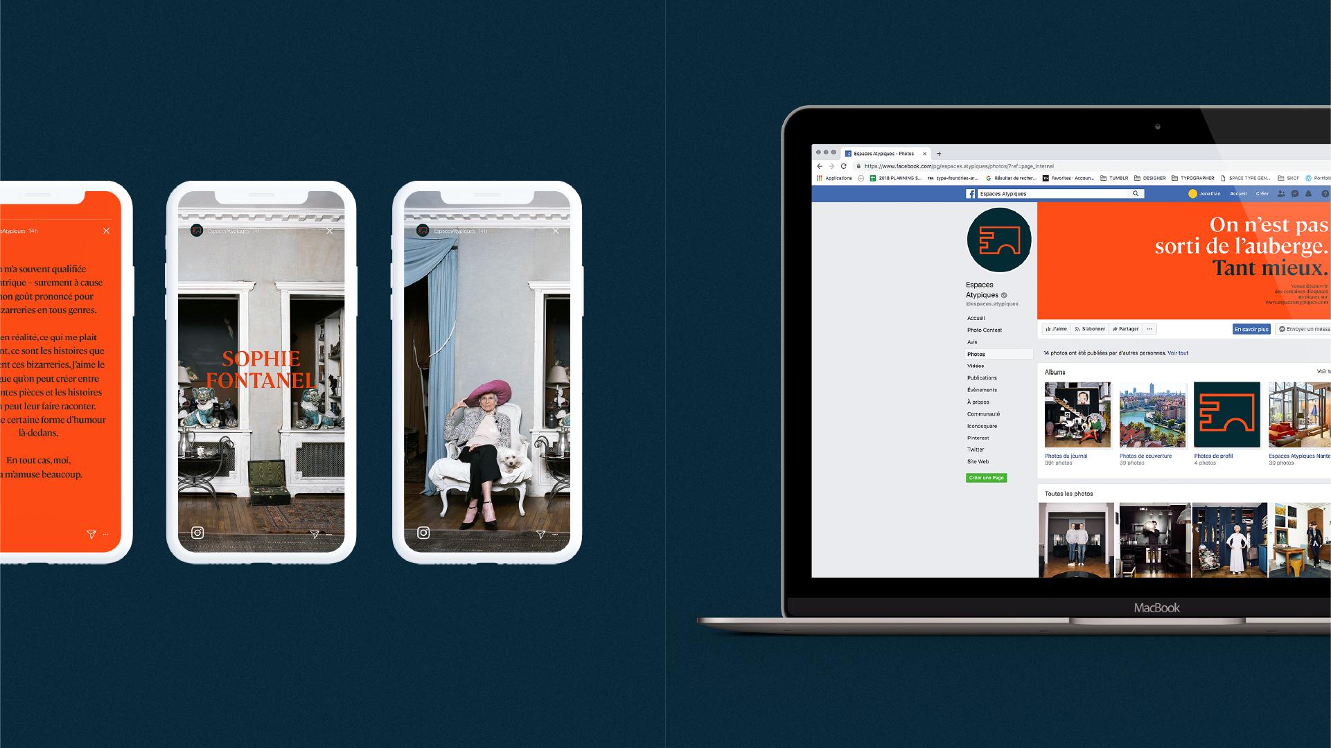 Déclinaison sur mobile et sur les réseaux sociaux