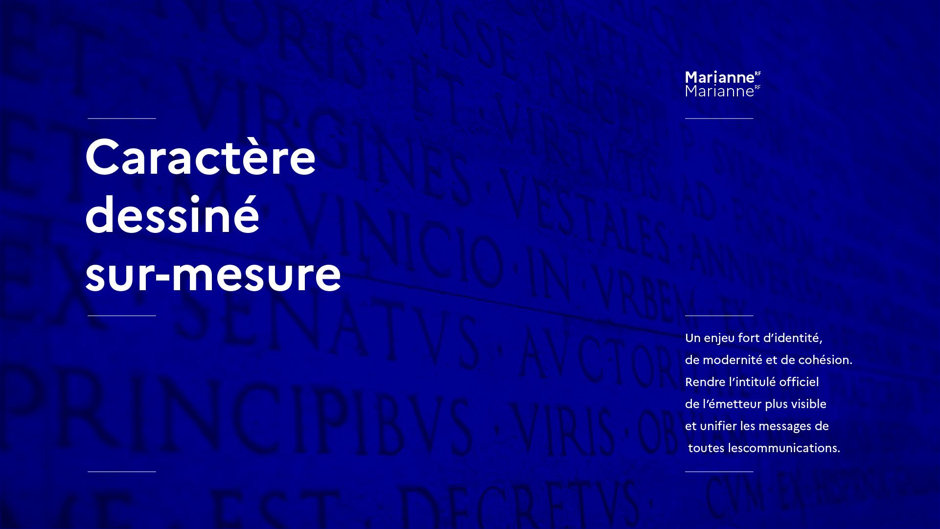 Un caracère typographique dessiné sur-mesure