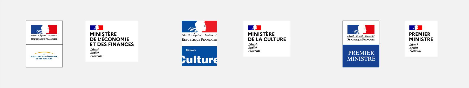 Avant après des ministères des finances, de la culture et premier ministre
